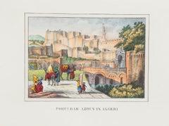 Gate in Algeria - Original Lithograph - 1846