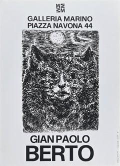 Gianpaolo Berto's Vintage Exhibition Poster - Offset Print - 1973