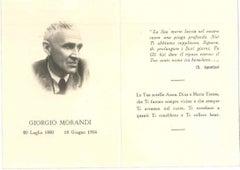Giorgio Morandi's Death Notice - Vintage Offset on Paper - 1964