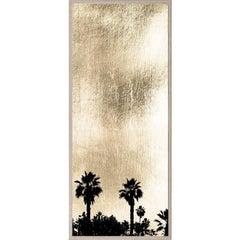 Golden Sunset, series 1, no. 4, gold leaf, giclee print, unframed