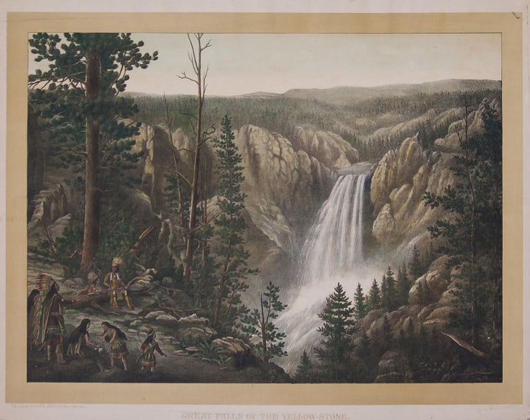 Unknown Landscape Print - Great Falls of the Yellow-Stone, Yellowstone National Park 1880