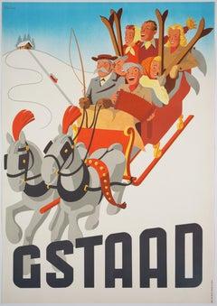 Gstaad – Original Vintage Swiss Winter Travel Poster