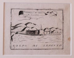 Gulf of Lepanto - Original Etching - 18th century