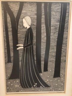 Hannah Frank Woman and Trees