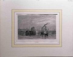 Havre - Original Lithograph - Mid-19th Century