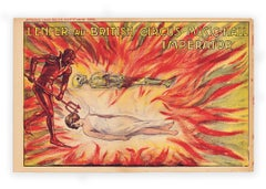 Hell at the British Circus Music-Hall Imperator, Devil magic poster c. 1915