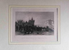 Heriot's Hospital - Original Lithograph - Mid-19th Century
