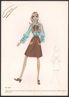 'Hopla' Italian 1960s Women's Fashion Design Illustration