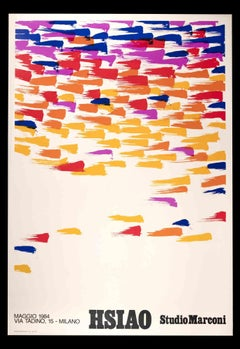 Hsiao Chin Poster Exhibition - Vintage Offset Print - 1984