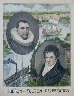 Hudson - Fulton Celebration 1809 - 1909 lithograph