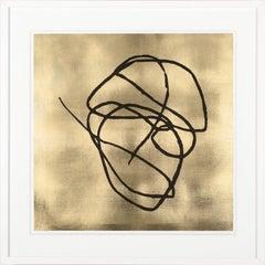 Huntzinger Collection no. 1, gold leaf, framed