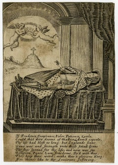 If prudence temprance valor [..] - Allegory on the death of Charles I.
