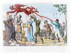 Il Gran Diavolo Distributore dell'Oro - Original Etching 1815-1850