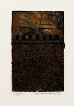 Informal Composition - Original Etching and Aquatint - 1968