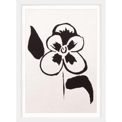 Ink Floral, No. 11, silkscreen, handmade paper, framed