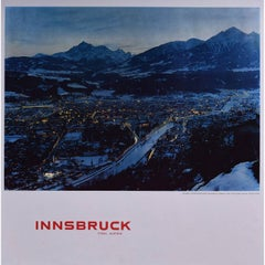 Innsbruck Tyrol Austria - Original Vintage Skiing Travel Poster