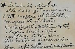 """Invitation of """"Mostra del Cavallino 1942"""" - Original Lithograph-Invitation Card"""