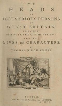 J. Houbraken & G. Vertue - 1747 Engravings, The Heads of Illustrious Persons