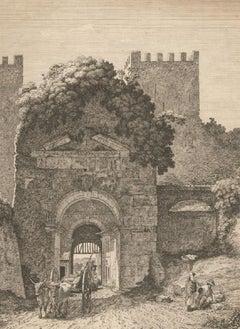 Jacob Wilhelm Mechau (1745-1808) - 1794 Etching, Arco di Druso
