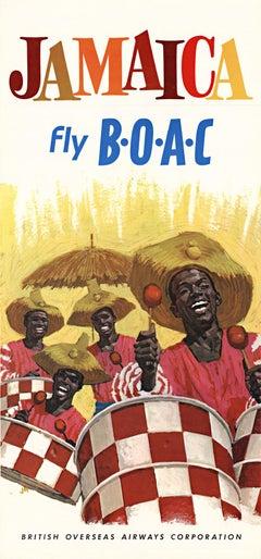 Jamaica bly BOAC original vintage travel poster