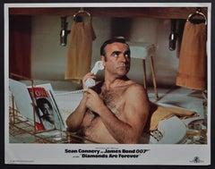 """""""James Bond 007 - Diamands are foever"""" Original Lobby Card, UK 1971"""