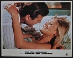 """""""James Bond 007 - The man with the golden gun"""" Original Lobby Card, UK 1974"""