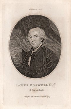 James Boswell, 9th Laird of Auchinleck, diarist, portrait engraving, 1787