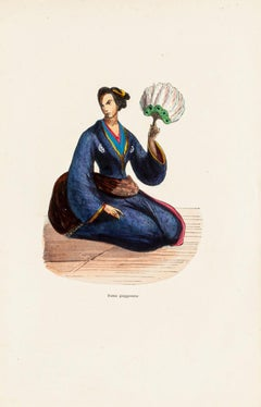 Japanese Custom - Original Lithograph - 19th Century