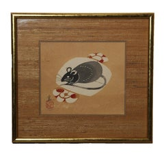 Japanese Rat Woodblock Print 2/5