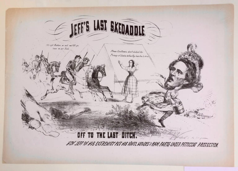 JEFF'S LAST SKEDADDLE - Print by Unknown
