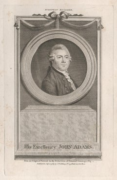 John Adams, President of the United States, portrait engraving, 1783