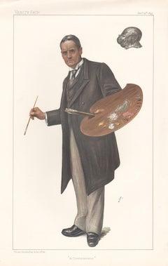 John Seymour Lucas, Vanity Fair artist portrait chromolithograph 1899