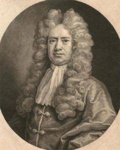 John Smith after Michael Dahl - 1719 Mezzotint, Mr Joseph Martyn