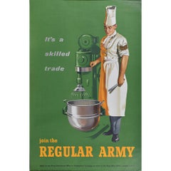 'Join The Regular Army: A Skilled Trade' 1950s British Army Recruitment Poster