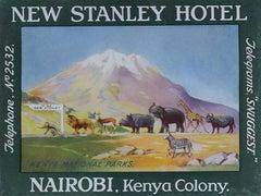 Kenya Nairobi New Stanley Hotel Original Printed Luggage Label