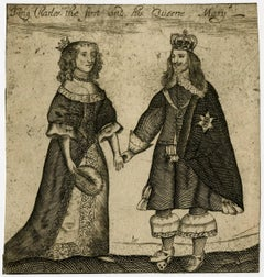 King Charles the first and his queene Mary.