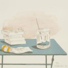 Kyriakos Katzourakis (b. 1944) - Signed 1983 Lithograph, Artist's Studio