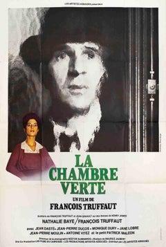 "La Chambre Verte (FOLDED)-63"" x 47""-Poster-1978-Vintage-Black & White"