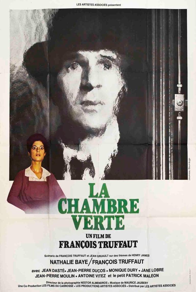 """La Chambre Verte (FOLDED)-63"""" x 47""""-Poster-1978-Vintage-Black & White - Print by Unknown"""