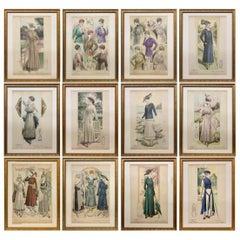 'La Femme Chic' French Belle Époque Fashion Prints, Framed Set of 12