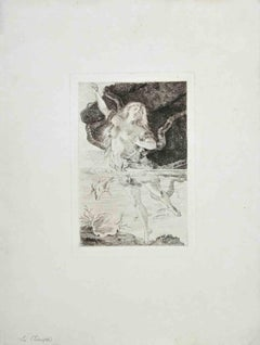 La Pieuvre - Original Etching And Drypoint - Early 20 Century