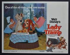 """Lady and the Tramp"" Original Lobby Card of Walt Disney's Movie, USA 1955."