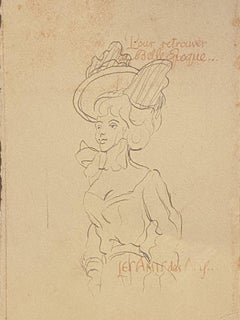 Lady of the Belle Epoque - Original Lithograph on Paper - 1880