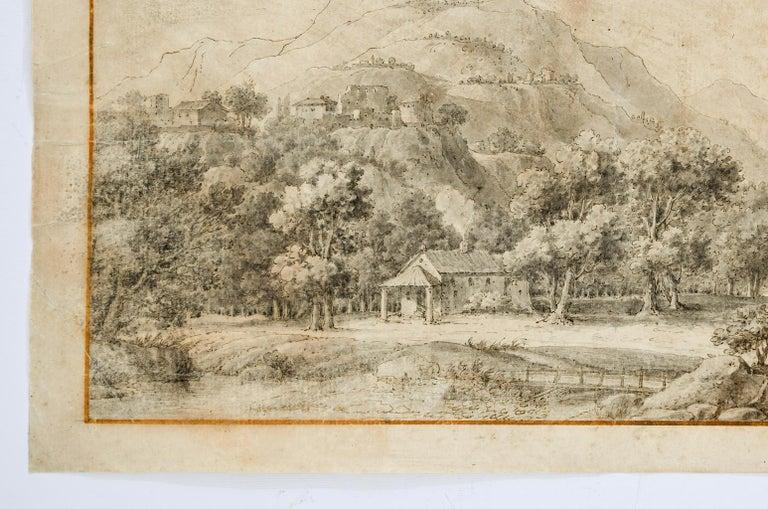 Landscape - Original Etching  - 18th Century - Print by Unknown