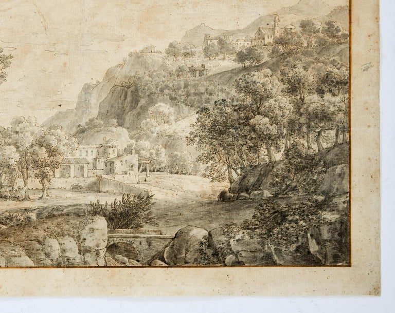 Landscape - Original Etching  - 18th Century - Old Masters Print by Unknown