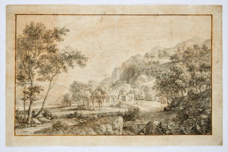 Unknown Landscape Print - Landscape - Original Etching  - 18th Century