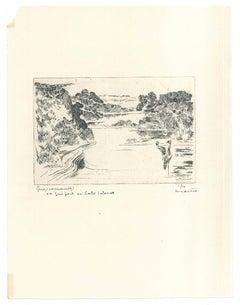 Landscape - Original Etching - 1930 ca.