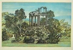 Landscape - Original Etching - Mid-20th Century
