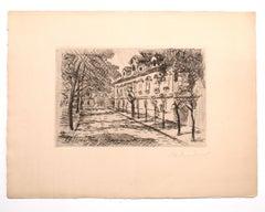Landscape - Original Etching on Paper - 1927