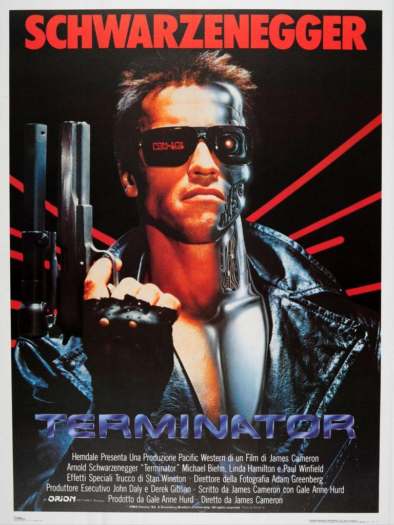 Unknown Large Original Vintage Sci Fi Movie Poster For Terminator